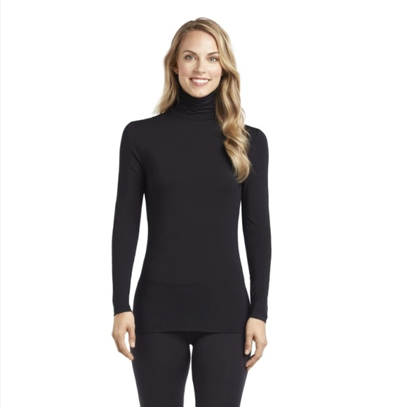 Cuddl Duds girls long sleeve crew top and leggings set size XL14//16 black